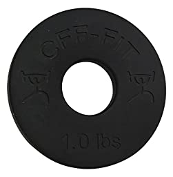 CFF 1 lb Competition Rubber Fractional Weight Plates - Pair