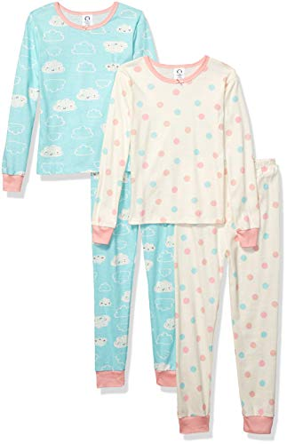 Gerber Baby Boys Organic 2 Pack Cotton Footed Unionsuit, 3T, CLOUD -
