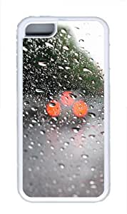 iPhone 5C Case Cover - Water On Windshield TPU Back Case for Apple iPhone 5C - White
