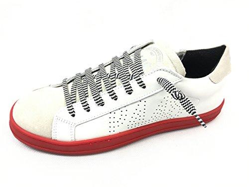 P448 E8johnf - Zapatillas de Piel Para Hombre Blanco Weiß