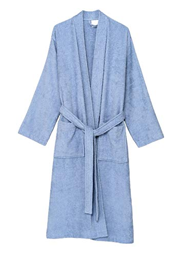 n's Robe Turkish Cotton Terry Kimono Bathrobe X-Large/XX-Large Kentucky Blue ()