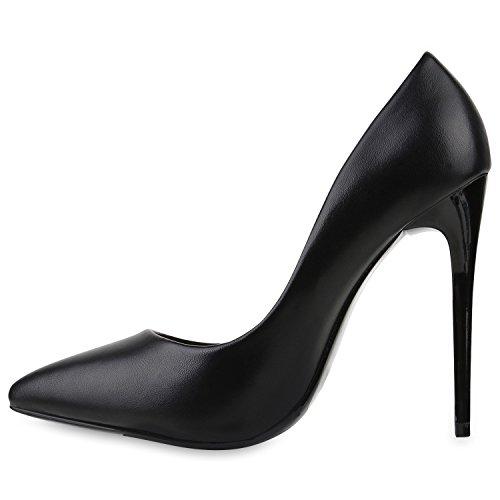 Stiefelparadies Damen Spitze Pumps Stilettos High Heels LederOptik ...