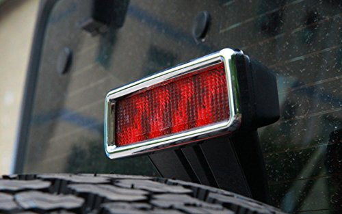 Amazon.com: Chrome For Jeep Wrangler 2007-2016 ABS Turn Tail High Mount Stop Light Brake Light Lamp Cover Sticker Frame Trim: Automotive