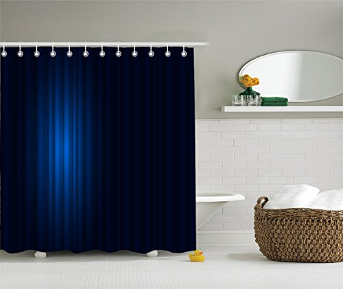 [Navy Blue Decor Shower Curtain Single Hollywood Show Light Themed Theater Curtain Design Artwork Fabric Bathroom Decor Set with Hooks Navy Blue and] (Best Hollywood Costumes Designers)