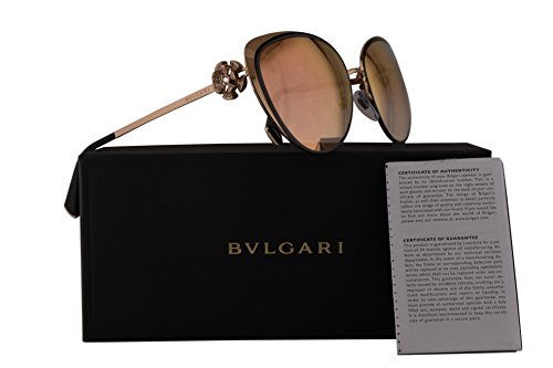 Bvlgari BV6092B Sunglasses Black Gold w/Pink Mirror Lens 57mm 2396F BV 6092B BV6092-B BV 6092-B - Sunglasses Bv