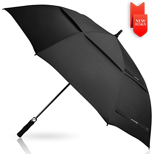 Golf Umbrella Windproof Large 62 inch Double Canopy Automatic Open Umbrella for Men - Vented Sun Umbrella - Stick Umbrellas ?ZOMAKE?