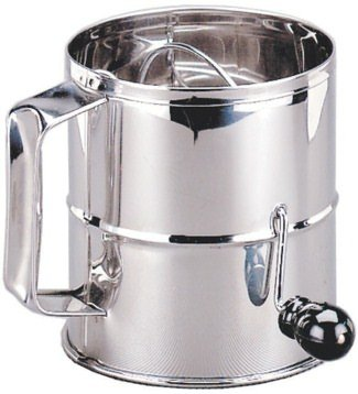 Adcraft S/S Flour Sifter w/ Rotary Handle