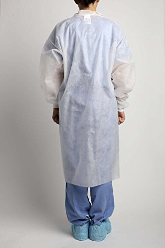 MediChoice Laboratory Coats, Standard, Disposable, Three-Pocket, 5 Snap-Front, Non Woven, Sturdy Polypropylene, XL, White (Case of 25) by MediChoice (Image #3)