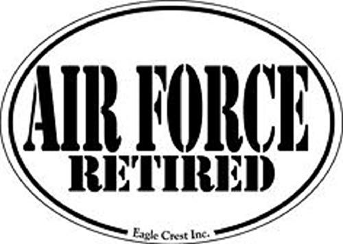 - Air Force Retired Magnet Text Military Oval Car Refrigerator Maget