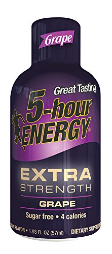 5 Hour Energy Drink Shot, Extra Strength Grape, 6 Count