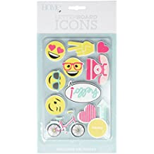 American Crafts 11 Piece Happy Icon Pack Die Cuts with a View Letterboards