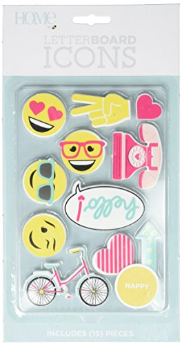 American Crafts 11 Piece Happy Icon Pack Die Cuts with a View Letterboards (Icon People)