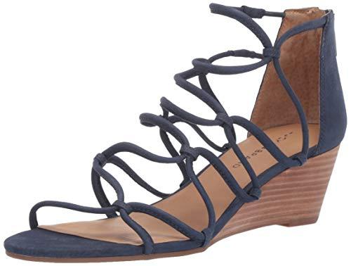 Lucky Brand Women's JILSES Wedge Sandal, Indigo, 9 M US
