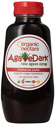 Organic Nectars Agave Syrup, Raw Premium Dark, 17-Ounce Bottles (Pack of ()