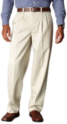 Docker's Men's Signature Khaki D4 Relaxed Fit Pleated, Cloud