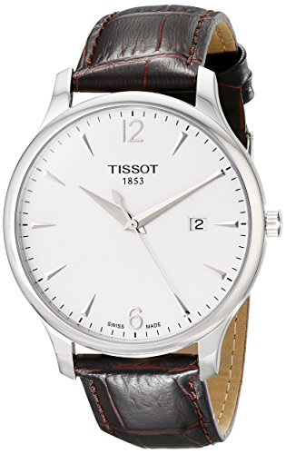 Tissot Men's T063.610.16.037.00 Tradition Silver-Tone Stainless Steel Watch by Tissot
