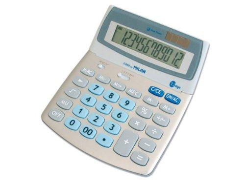 Blister calculadora 12 dígitos Check Button Milan M153012BL