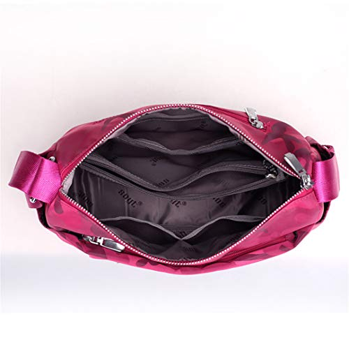 Delle Del La Nylon Black Camuffamento Camouflage Borsa Per Messaggero Crossbody A Impermeabile Piccolo Tempo Di Stampa Donne Tracolla Borse Della FxtCX