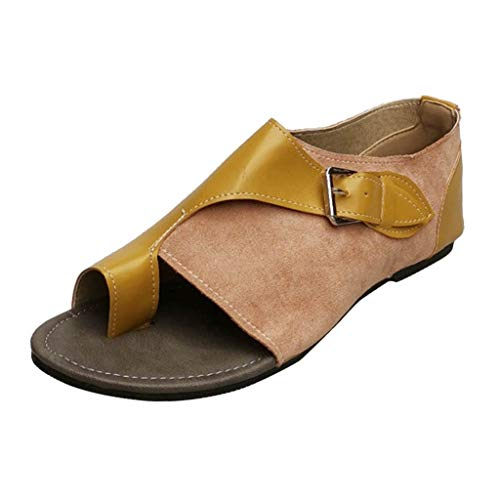 〓LYN Star〓 2019 New Women Comfy Platform Sandal Shoes Summer Beach Travel Shoes Fashion Sandals Comfortable Ladies Shoes Yellow