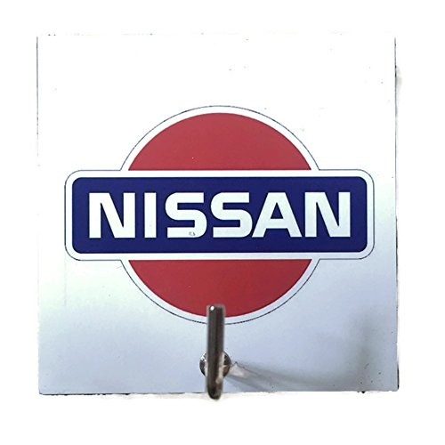 agility-bathroom-wall-hanger-hat-bag-key-adhesive-wood-hook-vintage-white-nissan-car-logos-photo