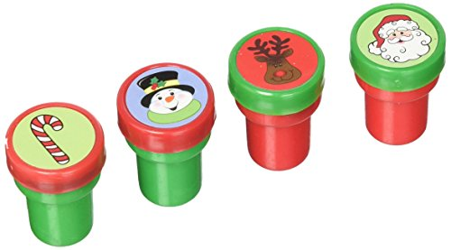 6 ~ Holiday Stampers/Christmas Stamps ~ Self-Inking ~ New/Shrink-Wrapped ~ Santa, Snowman, Reindeer, Penguin, Gingerbread Man, Snowflake ()