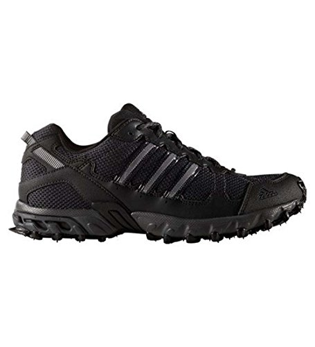 Adidas Men's Rockadia Trail M Running Shoe, Black/Black/Dark Grey Heather, 10 M US Mens Trail Running Shoes