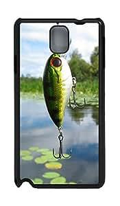 Samsung Note 3 Case Fish Bait PC Custom Samsung Note 3 Case Cover Black