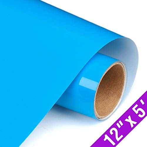 TransWonder Premium Heat Transfer Vinyl HTV Rolls for T Shirts 12in.x5ft. Easy Weed Iron on HTV Vinyl Compatible with Silhouette Cameo & Cricut (Royal Blue)