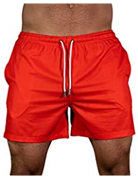Freedoms Wear Men's Red Baywatch Swim Short