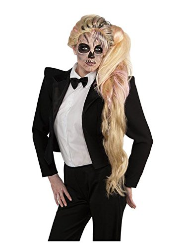 Rubie's Women's Deluxe Lady Gaga Side Ponytail Wig -