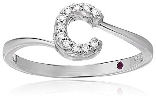 Roberto Coin Women's 001634AWLRXC Diamond Initial Ring, White, Size 7 ()