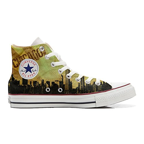 Customized Schuhe Hi Schuhe personalisierte Converse Handwerk Style All Star Chicago wU4qXxTt