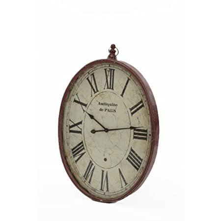 Large Classic Unusual Red Oval Pocket Watch Wall Clock Amazonco