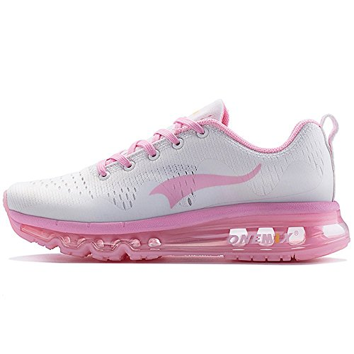 ONEMIX Air Cushion Sports Running Shoes for Men and Women New Wave Casual Walking Sneakers Pink