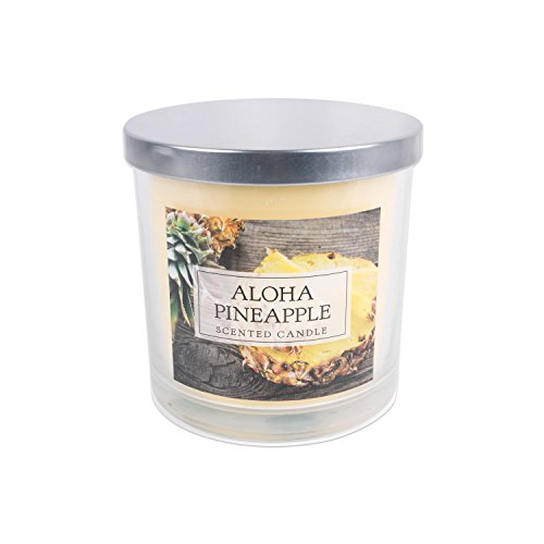 Home Traditions 3-Wick Evenly Burning Highly Scented 4x4 Large Jar Candle with 45+ Hour Burn Time (14.5 Oz) - Aloha Pineapple Scent