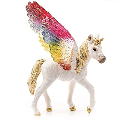 SCHLEICH bayala Winged Rainbow Unicorn Foal Imaginative Toy for Kids Ages 5-12: Toys & Games [5Bkhe0806260]