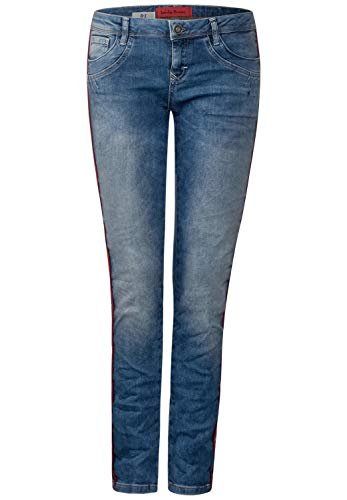 Blau One Blue Brillant Street Bleach Random Femme Jean Slim R1wn8Hq