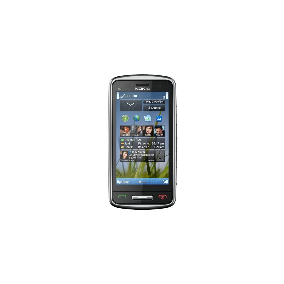 Nokia C6 01 Unlocked GSM Phone with 8 MP Camera, 720p Video Recording