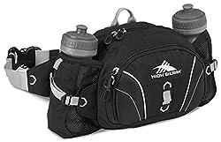 High Sierra Express Lumbar Waistpack, Black/Black/Silver