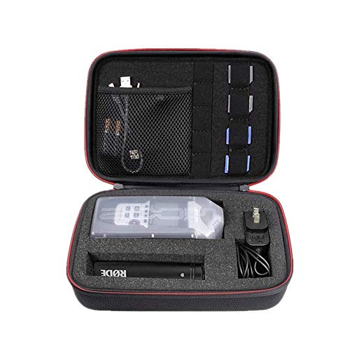 Hallart Travel Carry Case for Zoom H1, H2N, H5, H4N, H6, F8, Q8 Handy Music Recorders, Charger, Mic Tripod Adapter,SD cards and Accessories