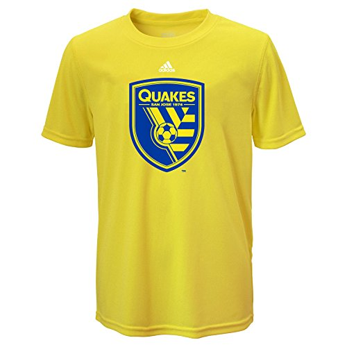 MLS San Jose Earthquakes Boys 8-20 Performance Tee, Neon Yellow, X-Large (18)