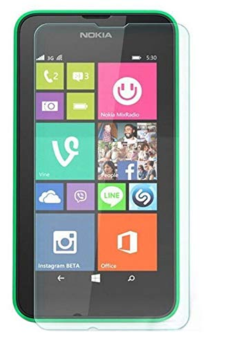 Luckyandery Nokia Lumia 630 Screen Protector case Friendly, [Tempered Glass] Screen Protector, Anti-Scratch, Bubble Free for Nokia Lumia 630,1 Pack (Protector Screen 630 Lumia)