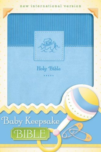 NIV, Baby Keepsake Bible, Leathersoft, Blue