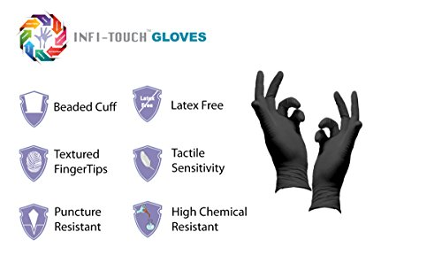 Infi-Touch Heavy Duty Nitrile Gloves, Strong & Tough, High Chemical Resistant, Disposable Gloves, Powder-Free, Non Sterile, Ambidextrous, Finger Tip Textured (10, Large) by Infi-Touch (Image #7)