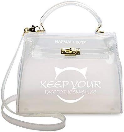 Hafmall Shoulder Handbag Transparent Crossbody product image