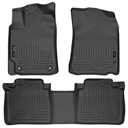 2013 Camry Floor Mats - Husky Liners 98901 Black Fits 2012-2017 Toyota Camry Weatherbeater Front & 2nd Seat Floor Liners