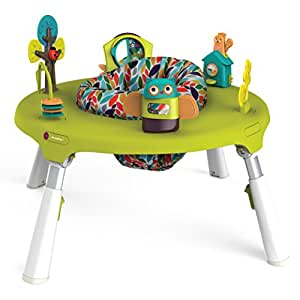 Oribel PortaPlay 4-in-1 Foldable Activity Center, Turn, Bounce, Play, Transform - Forest Friends