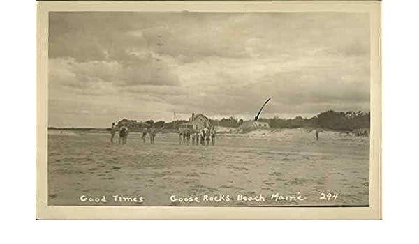 Goose Rocks Beach Biddeford Maine Me Original Vintage Postcard 1945 At Amazon S Entertainment Collectibles Store