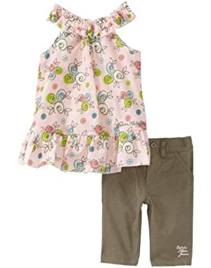 Baby Girls' Floral Tunic and Pants 2 Piece Set