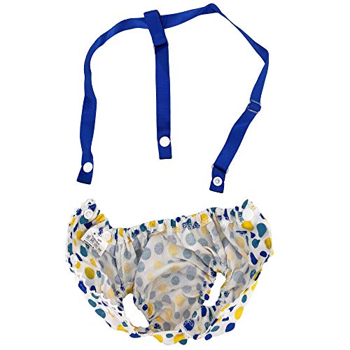 Pictures of FunnyDogClothes Female Dog Diaper With Suspenders COTTON 3